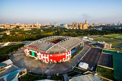 Spartak Stadium Otkritie Arena em Moscou Fotografia de Stock Royalty Free