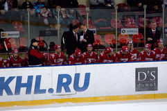 Spartak team bench Royalty Free Stock Images