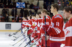 Spartak team just before game Royalty Free Stock Photos