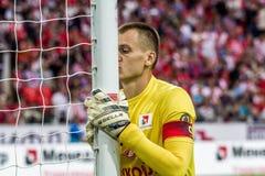 17/07/15 Spartak 2-2 Ufa Artyom Rebrov Lizenzfreie Stockfotos