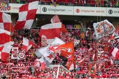 17/07/15 Spartak 2-2 Ufa-Fans Stockbilder