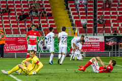 17/07/15 Spartak 2-2 Ufa game moments, goal Stock Photos