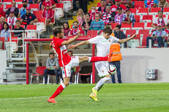 17/07/15 Spartak 2-2 Ufa game moments Stock Photography