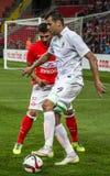17/07/15 Spartak 2-2 Ufa lekögonblick Royaltyfri Bild