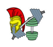 Spartan шлем на оборудовании спортзала Стоковое Изображение