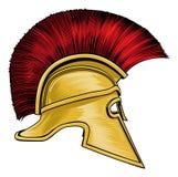 Spartan Ancient Greek Gladiator Warrior Helmet vector illustration