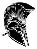 Spartan Ancient Greek Helmet Images libres de droits