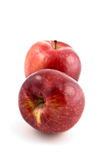 Spartan apples. Fresh ripe spartan apples isolated on white background in vertical format Stock Images