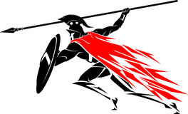Spartan Attack abstrait Photo libre de droits
