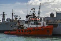 Spartan boat Stock Photo