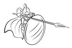 Spartan Fighter. Eps 10  illustration Design Royalty Free Stock Photo