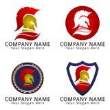 Spartan Head Logo Concept Foto de archivo libre de regalías