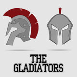 Spartan Helmet, Greek warrior, Gladiator. Legionnaire heroic soldier - vector Royalty Free Stock Image