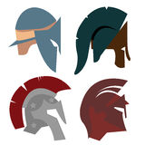 Spartan Helmet, Griekse strijder, Gladiator Stock Afbeelding