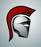 Spartan helmet illustration Stock Images