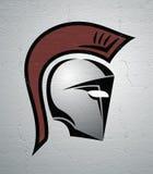 Spartan helmet illustration Royalty Free Stock Photos