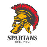 Spartan helmet isolated on white background. Design element for Stock Image