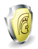 Spartan helmet shield security concept Stock Images
