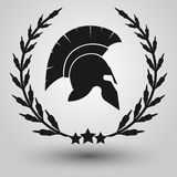 Spartan helmet silhouette Royalty Free Stock Photography