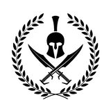 Spartan helmet symbol of a warrior Royalty Free Stock Photos