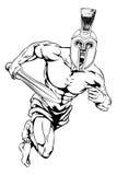 Spartan helmet warrior Stock Image