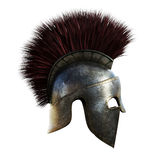 Spartan helmet on an  white background. Stock Photography