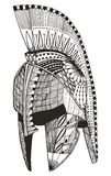 Spartan helmet. Zentangle stylized. Vector illustration. Pattern Royalty Free Stock Image