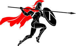Spartan Leap Attack Royalty Free Stock Photo