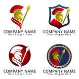 Spartan Legionnaire Concept Logo Fotografía de archivo libre de regalías