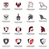 Spartan Logo Vector, Sparta-Sturzhelm Stockfotografie