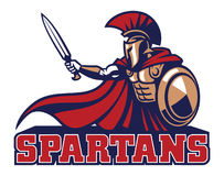 Spartan mascot Royalty Free Stock Photos