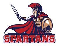 Spartan mascot stock illustration