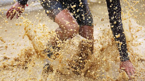Spartan obstacle running race Royalty Free Stock Photo