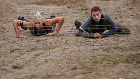 Spartan obstacle running race Royalty Free Stock Photography