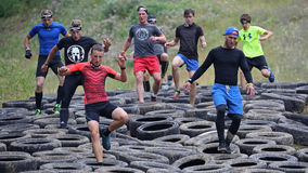 Spartan obstacle running race Royalty Free Stock Photos