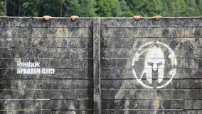 Spartan obstacle running race Stock Photo