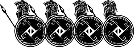 Spartan Phalanx Profile Imagens de Stock Royalty Free