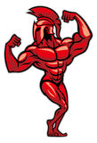 Spartan pose and show his big muscle. Vector of spartan pose and show his big muscle Stock Images