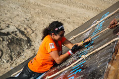 Spartan Race Dubai Royaltyfria Foton