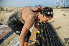 Spartan Race Dubai Royalty-vrije Stock Foto's