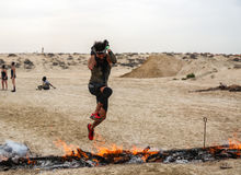 Spartan Race Dubai Stock Images