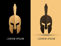 Spartan Roman or Greek Helmet. Graphic vector Stock Photography