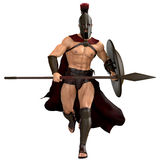 Spartan running frontal Royalty Free Stock Photo