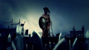 Spartan Soldier After en heroisk strid med hans massiva armé