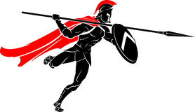 Spartan Spear Warrior Attack Stock Photography