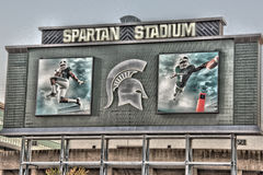 Spartan Stadium Sign Fotos de Stock