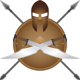 Spartan symbol Royalty Free Stock Images