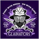 Spartan Team Logo. On dark background - vector illustration Royalty Free Stock Photography