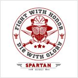 Spartan Team Logo and emblems - vector set. On white background Stock Photography