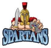 Spartan Trojan Gamer Warrior Controller-Maskottchen lizenzfreie abbildung